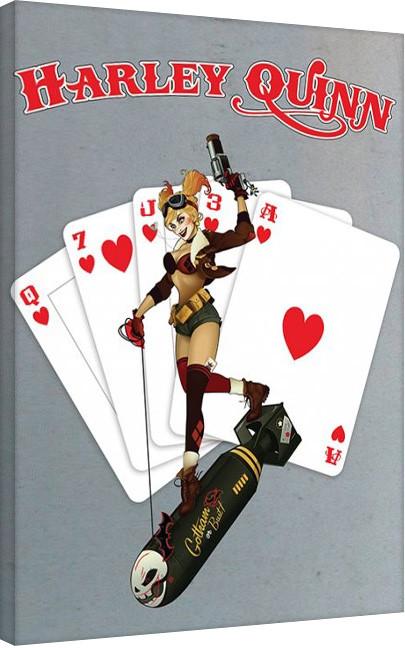 DC Comics - Harley Quinn - Cards Canvas Print