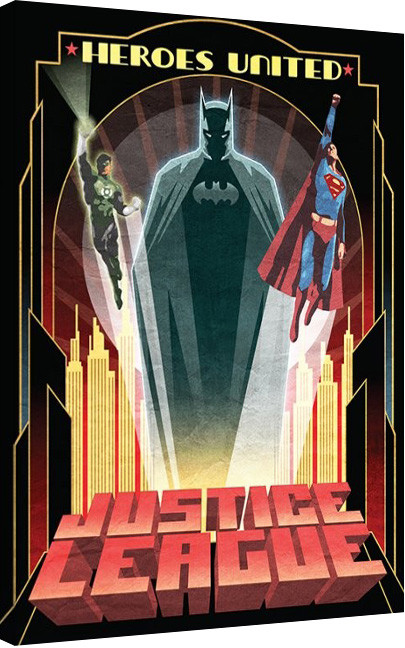 DC Comics - Heroes United Canvas Print