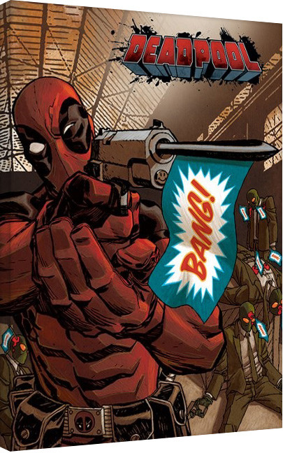 Canvas Print Deadpool-Bang