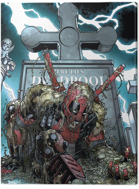 Canvas Print Deadpool - Grave