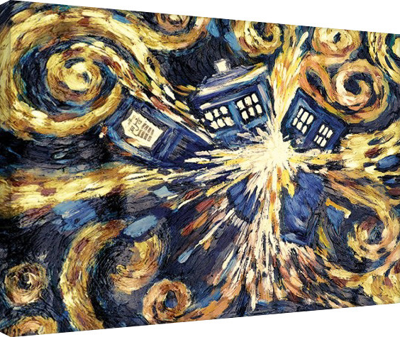 Canvas Print Doctor Who - Exploding Tardis
