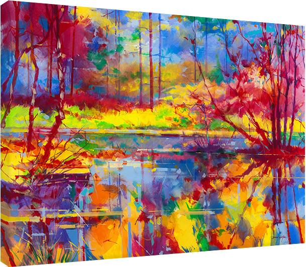 Canvas Print Doug Eaton - Reflections at Meadowcliff