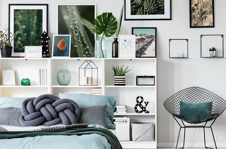 Canvas Print Drops on plants