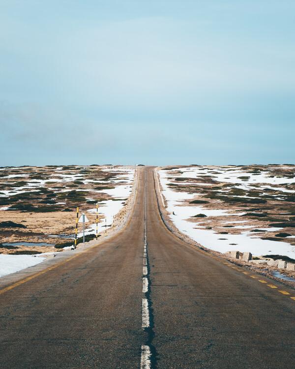 Canvas Print Endless Road