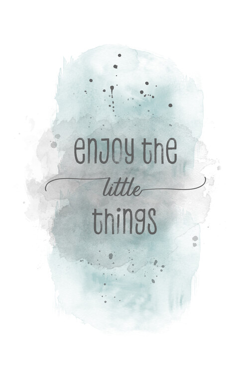 Enjoy the little things | watercolor turquoise Canvas Print