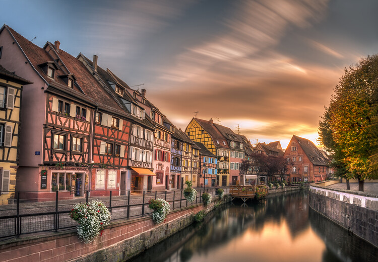 Canvas Print Fall in Colmar