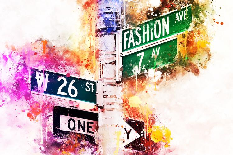 Canvas Print Fashion Ave