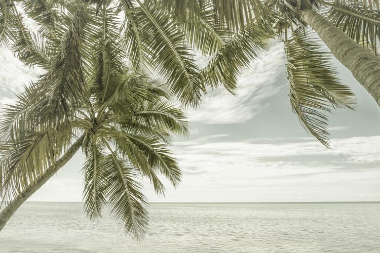 FLORIDA Vintage Oceanview Canvas Print