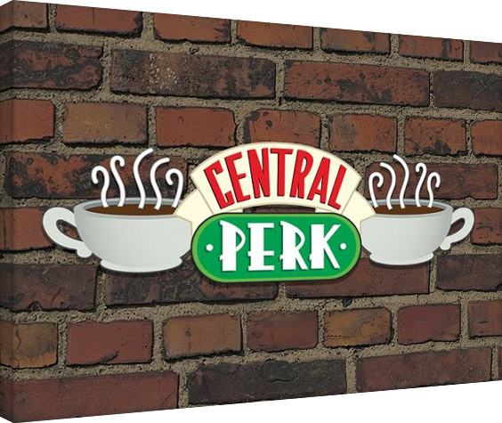 Canvas Print Friends - Central Perk Brick