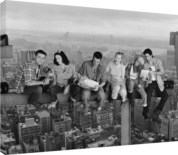 Canvas Print Friends - Lunch on a Skyscraper