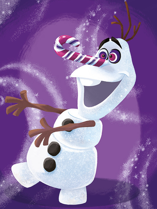 Canvas Print Frozen - Olaf Dizzy