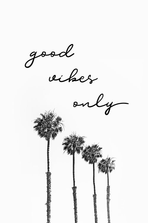 GOOD VIBES ONLY Dreaming under palm trees Canvas Print