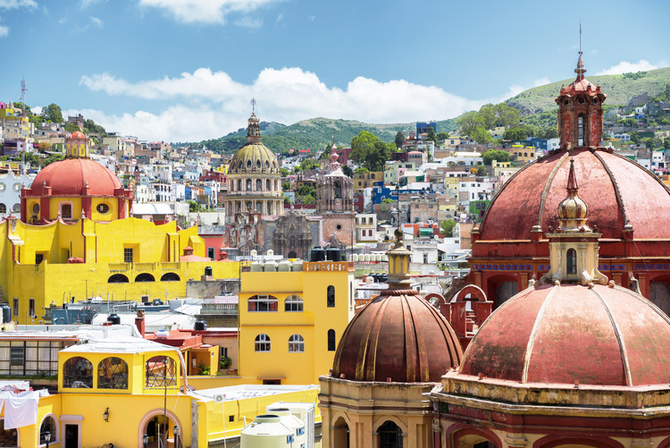 Canvas Print Guanajuato Architecture
