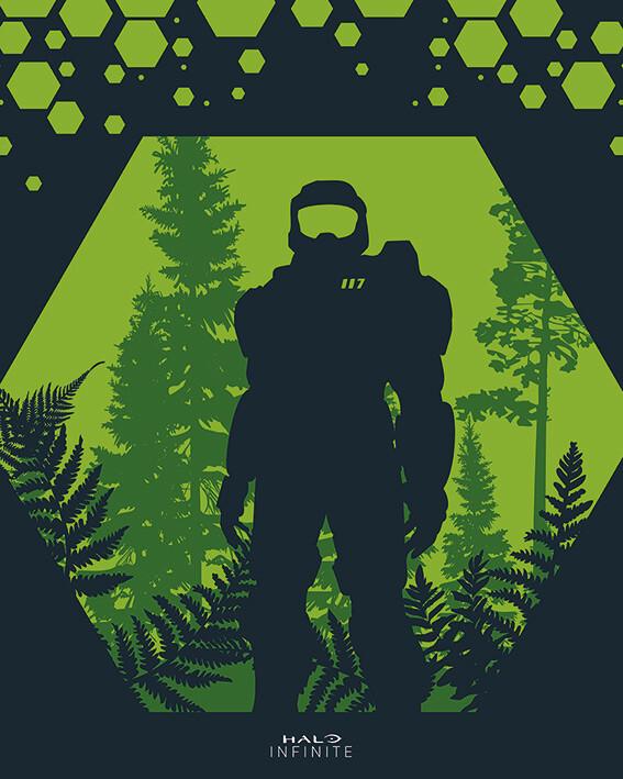 Canvas Print Halo: Infinite - Hex