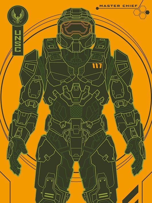 Canvas Print Halo: Infinite - Master Chief Tech