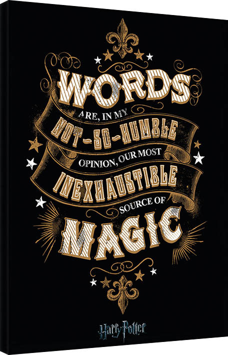 Canvas Print Harry Potter - Words