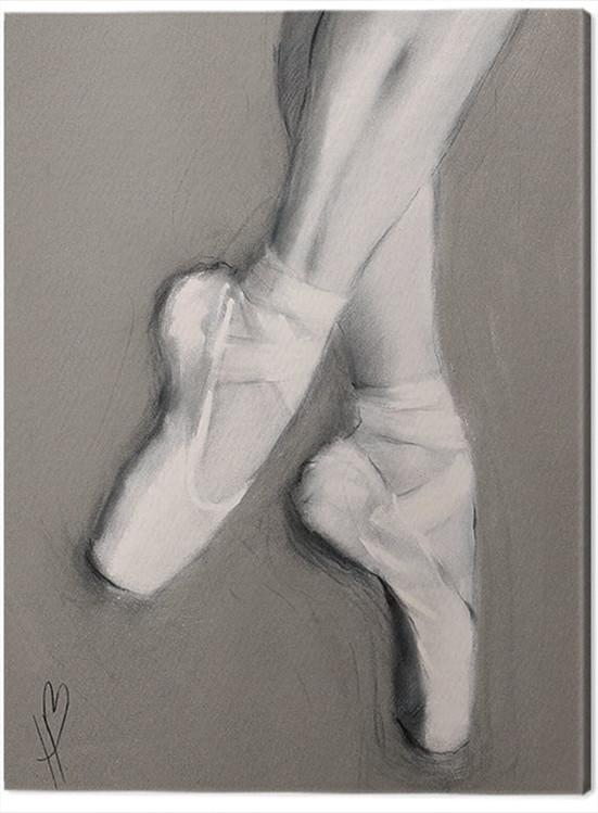 Canvas Print Hazel Bowman - Dancing Feet I