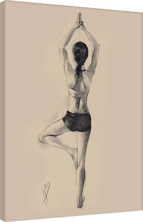 Canvas Print Hazel Bowman - Tree Pose