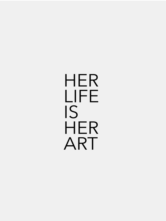 Canvas Print her life is her art