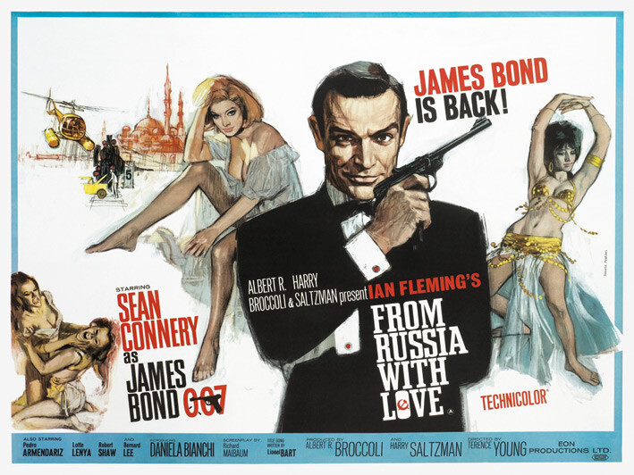 Canvas Print James Bond - From Russia With Love - Painting