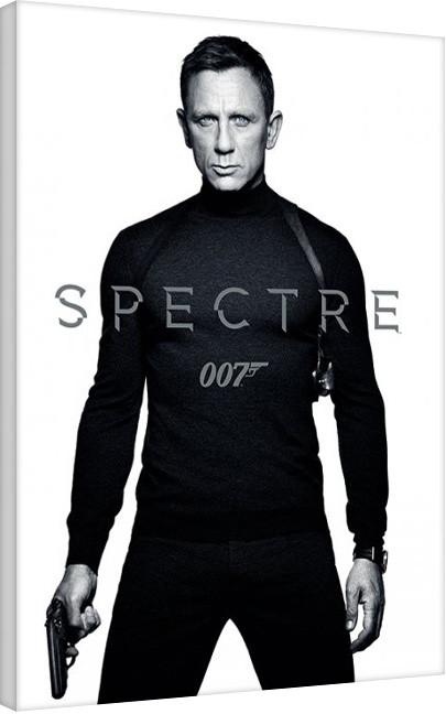 Canvas Print James Bond: Spectre - Black and White Teaser