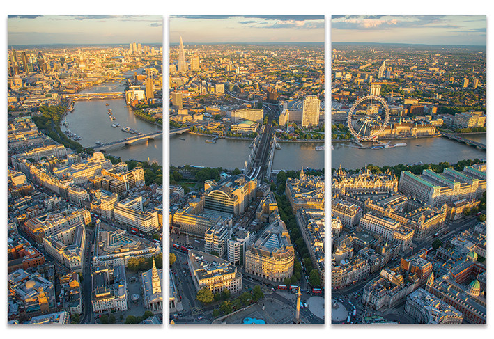 Canvas Print Jason Hawkes - London Evening