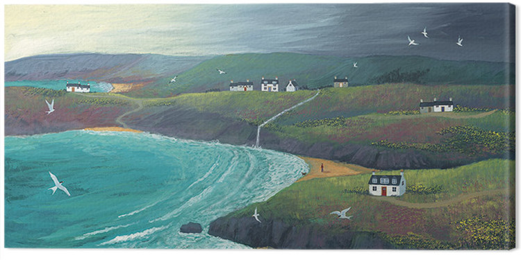 Canvas Print Jo Grundy - Coastal Hills