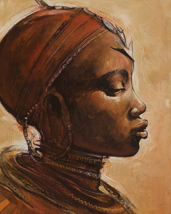 Canvas Print Jonathan Sanders - Masai Woman I
