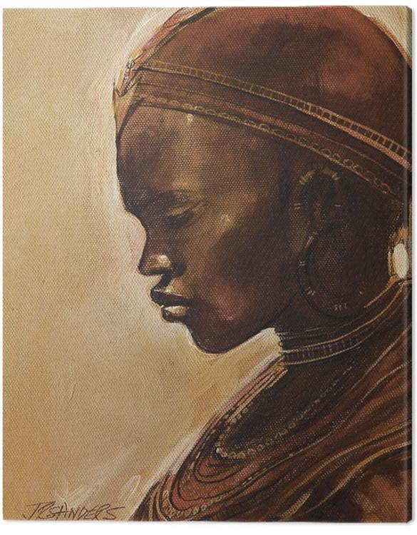 Canvas Print Jonathan Sanders - Masai Woman II