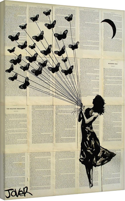 Loui Jover - Butterflying Canvas Print