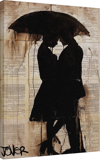 Loui Jover - Rain Lovers Canvas Print