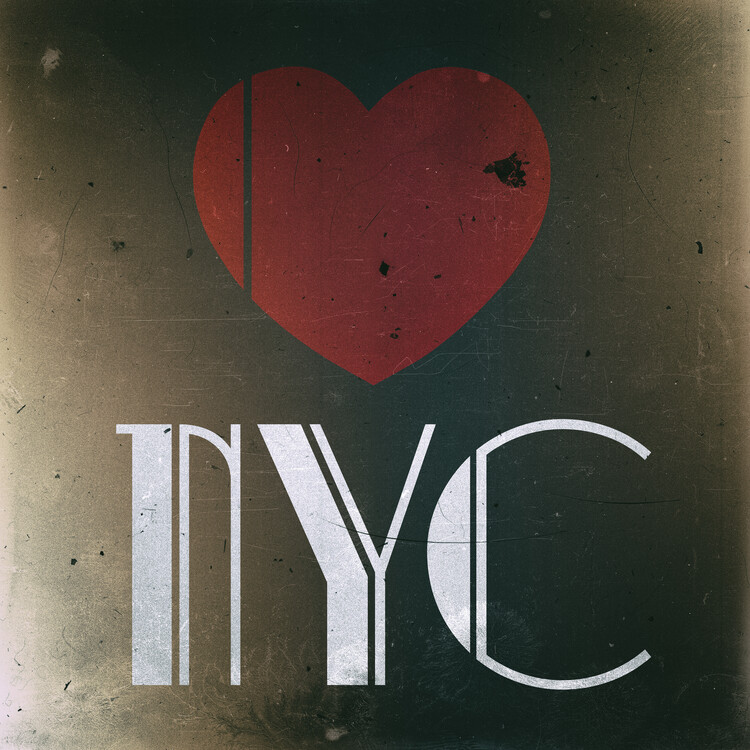 Canvas Print Love NYC