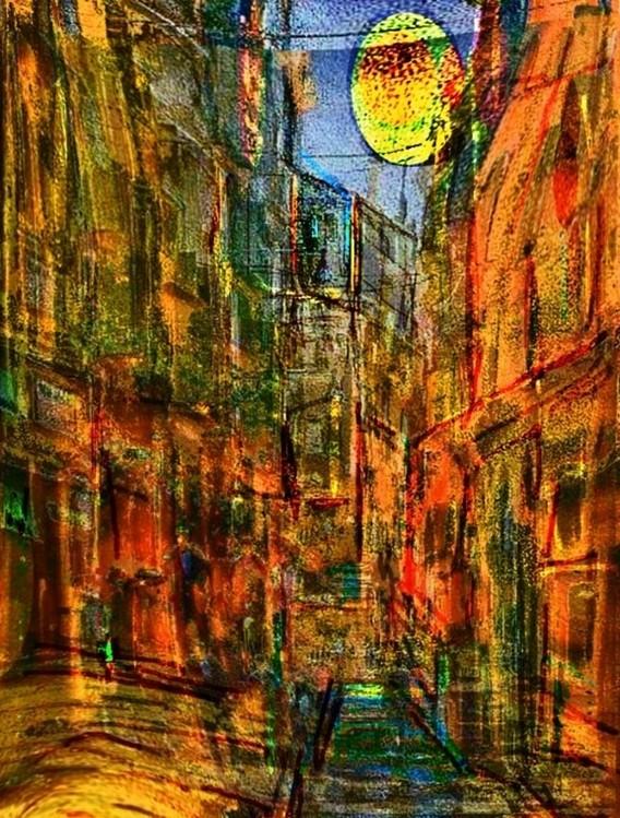 LUNADIURNO Canvas Print
