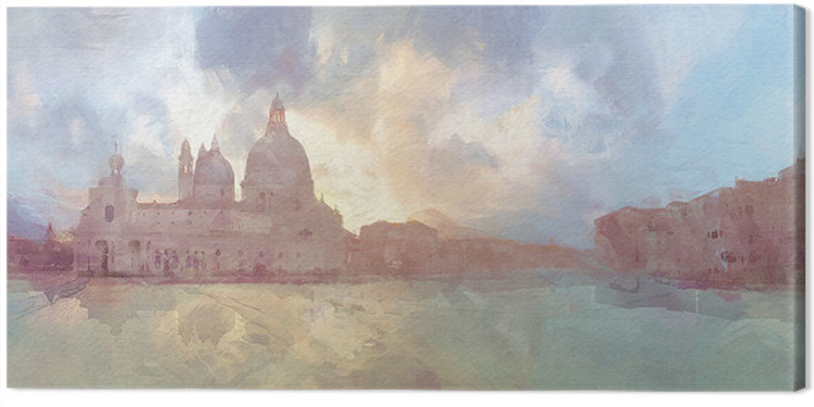 Canvas Print Malcolm Sanders - The Grand Canal