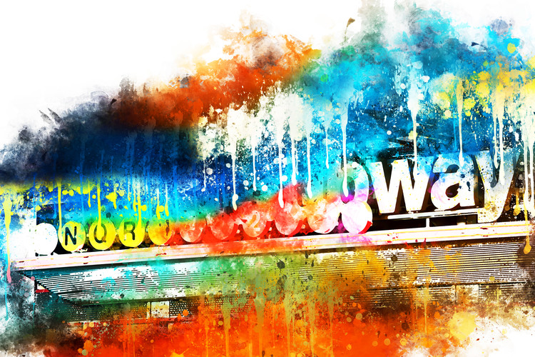 Canvas Print Manhattan Subway