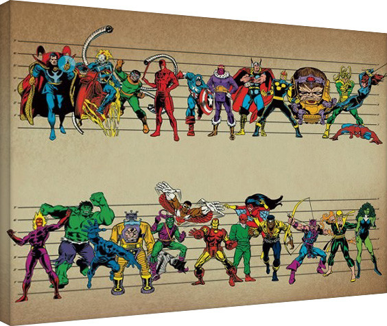 Canvas Print Marvel Comics - Line Up