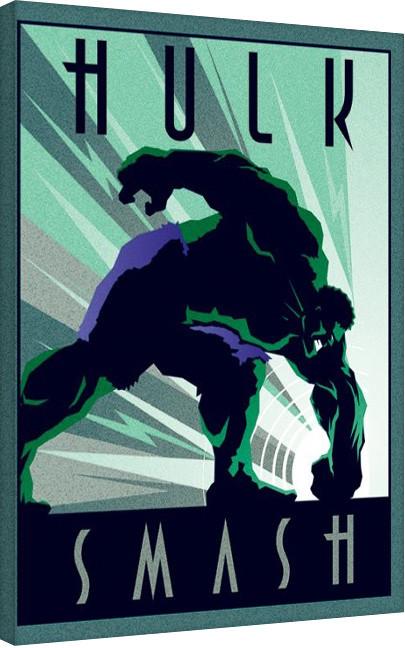 Canvas Print Marvel Deco - Hulk