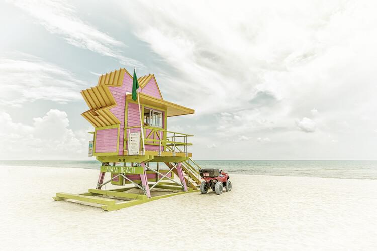 MIAMI BEACH Vintage Florida Flair Canvas Print