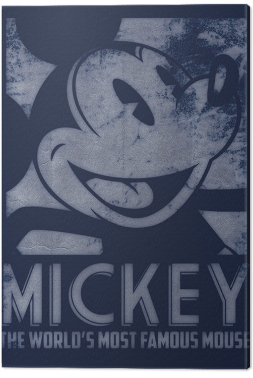 Canvas Print Mickey Mouse - Most Famous Mouse