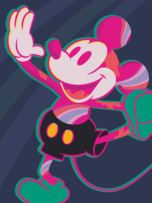 Canvas Print Mickey Mouse - Warped