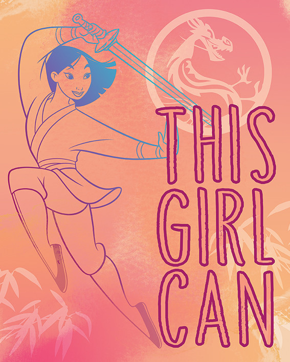 Canvas Print Mulan - This Girl Can