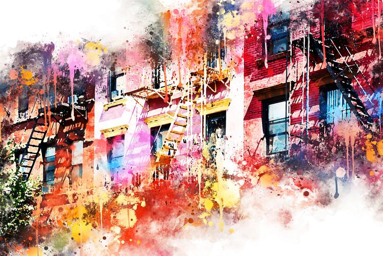Canvas Print New York Facades