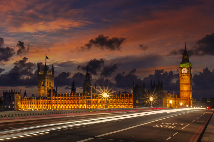 Canvas Print Nightly view from London Westminster