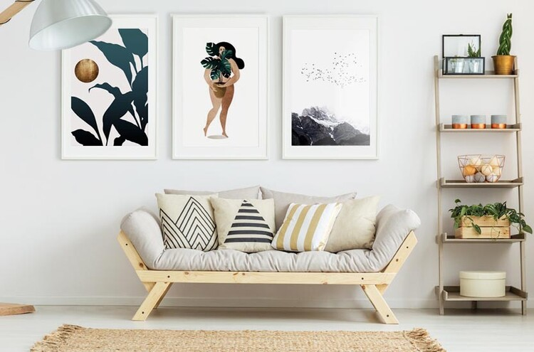 Canvas Print Nude With Plant