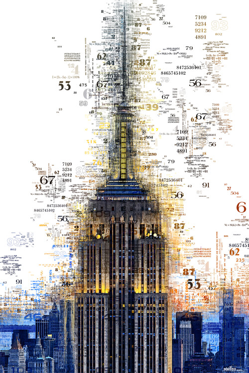 Canvas Print Numbers Collection - Empire State