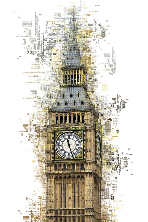 Canvas Print Numbers Collection - London Big Ben