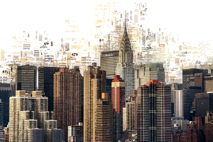 Canvas Print Numbers Collection - Manhattan Skyscrapers