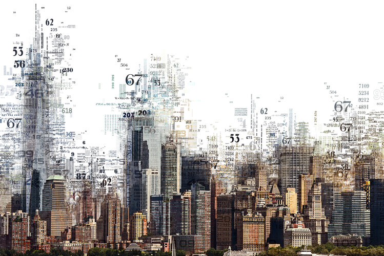 Canvas Print Numbers Collection - NY Skyline
