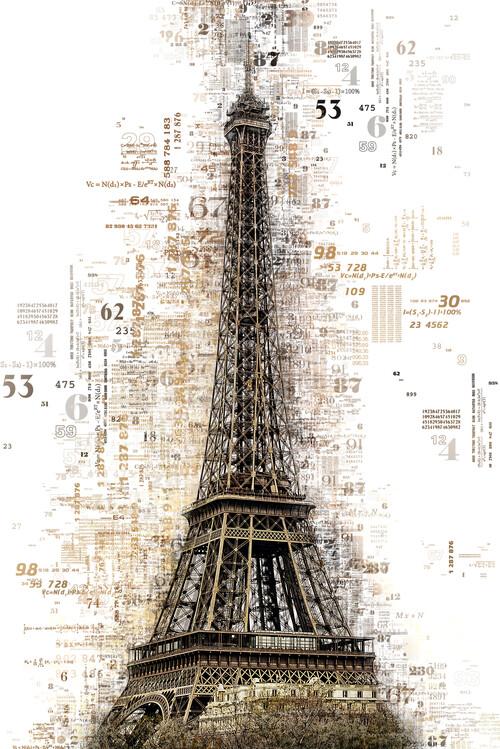 Canvas Print Numbers Collection - Paris Eiffel