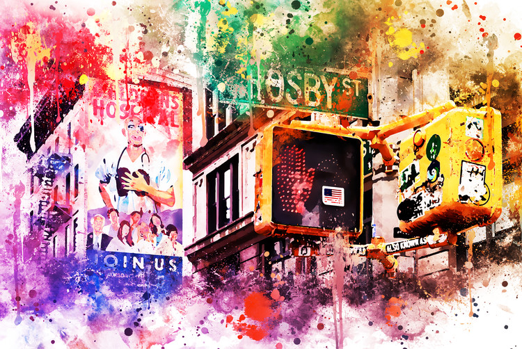 Canvas Print NYC Watercolor 025